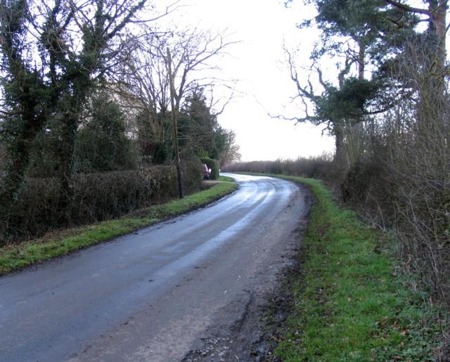 Pasture Lane North towards Kirby Bellars