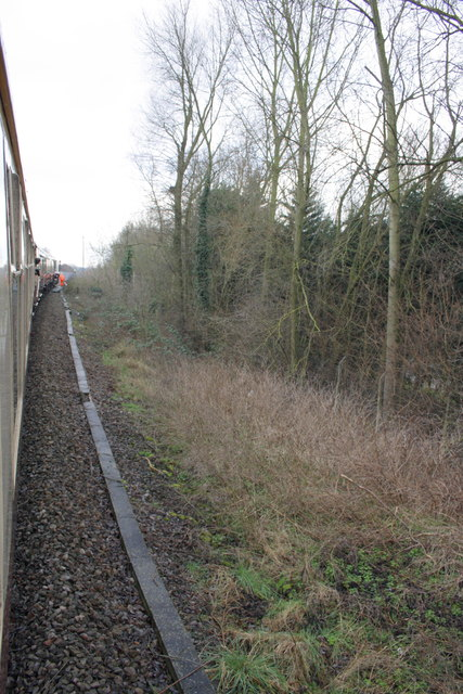 Charter train pauses on the Colnbrook Branch