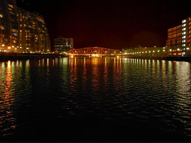 Salford Quays, Huron Basin and Detroit Bridge