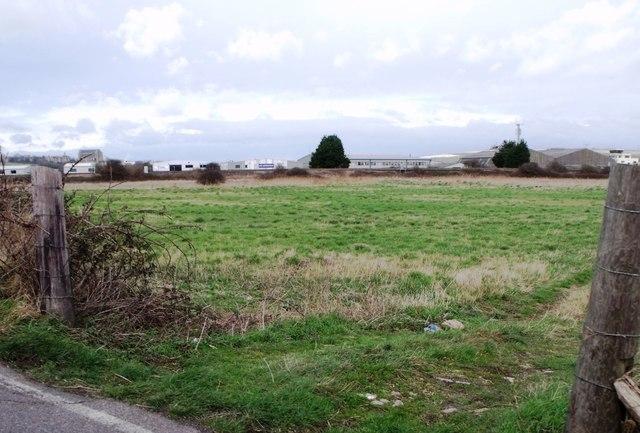 Field of grass near Shoreham Airport