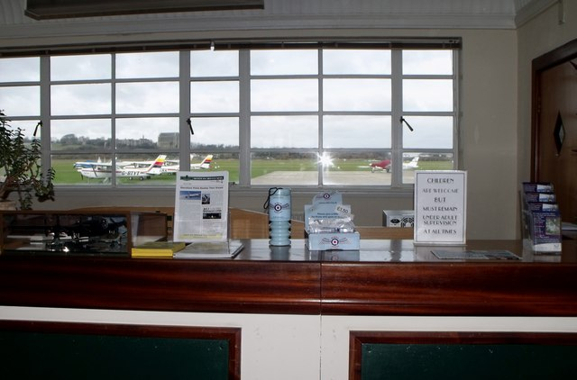 Shoreham Airport terminal check-in desk