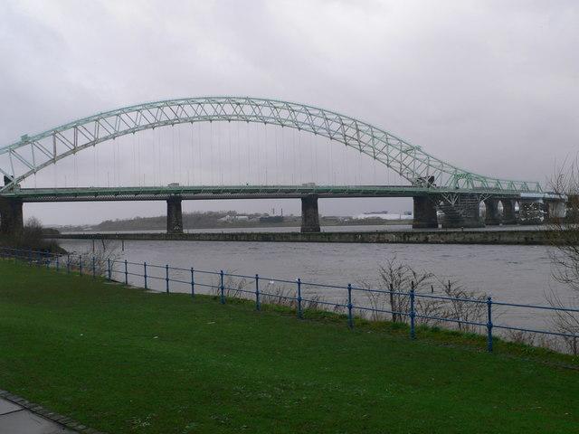 The Mersey at Runcorn Bridge