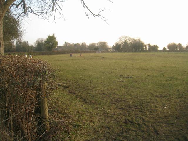An empty paddock