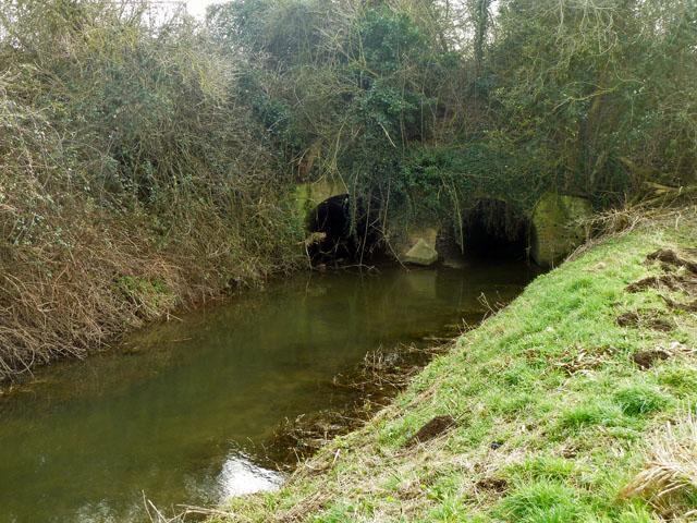 Canal aqueduct over Aldingbourne Rife, north side