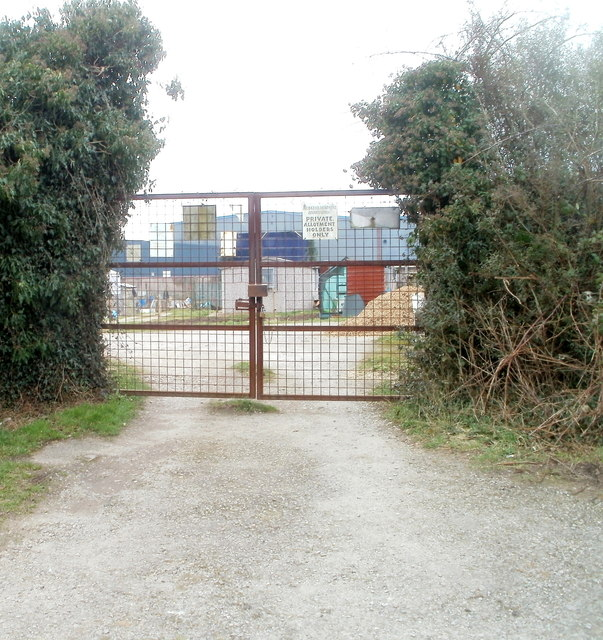 Entrance gates to Bridgend Allotments, Bedwas