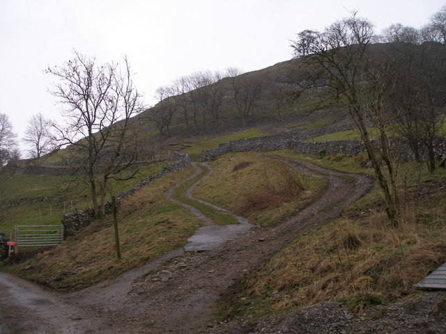 Start of the bridleway