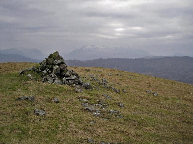 Summit cairn on Stròc-bheinn