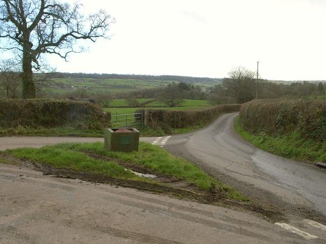 Lane junction near Beacon