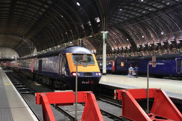 The buffers at Paddington Station