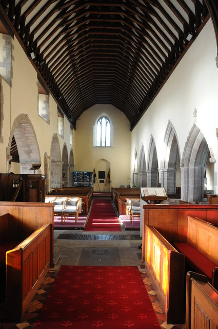 Interior of Eardisley church