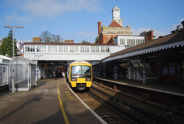 Train at  Tunbridge Wells Station