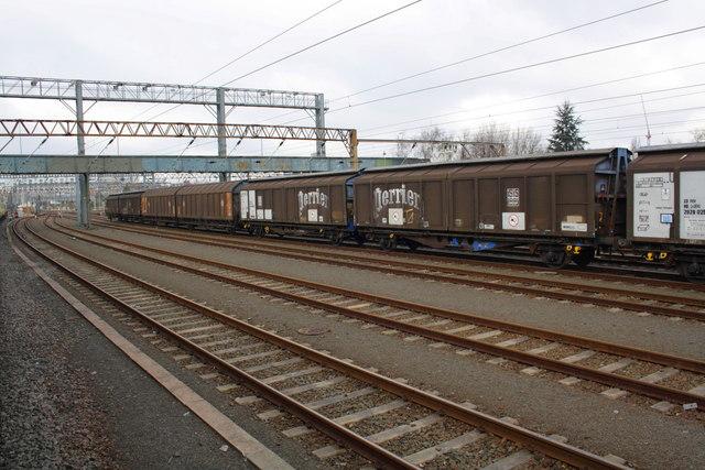 Railway wagons in Wembley Yard