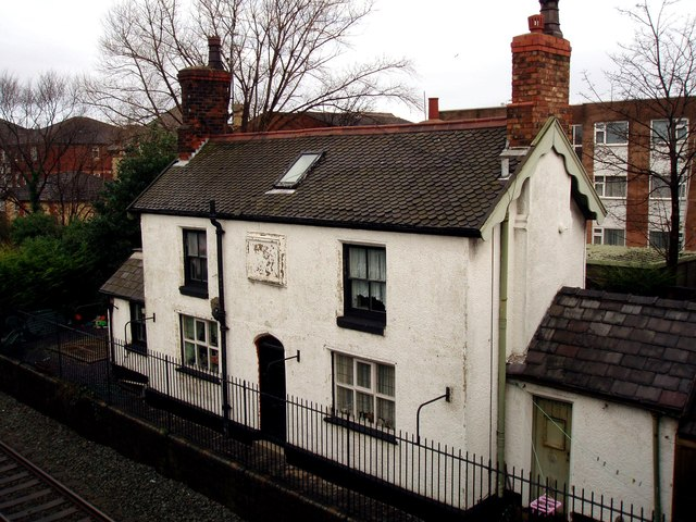 The old station masters' house for Blundellsands and Crosby Railway Station