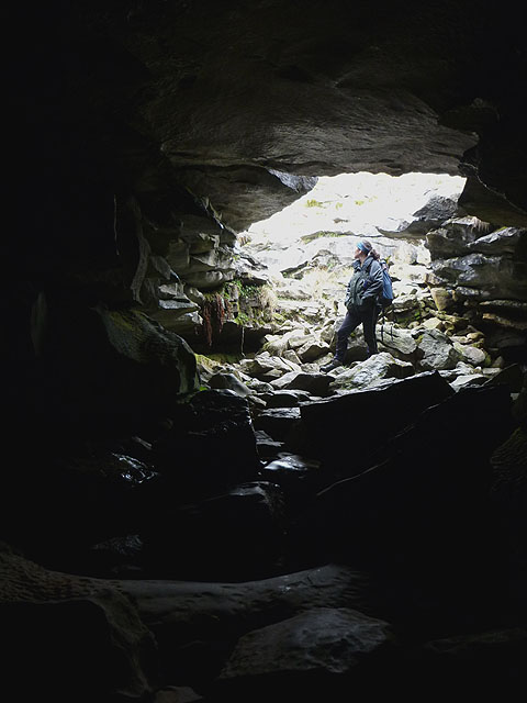 Looking out of Lower Long Churn Cave entrance