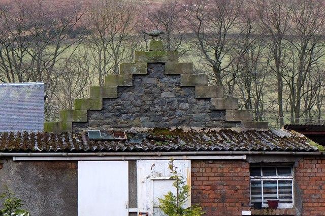 Stone crow at Kirklands, Innerleithen