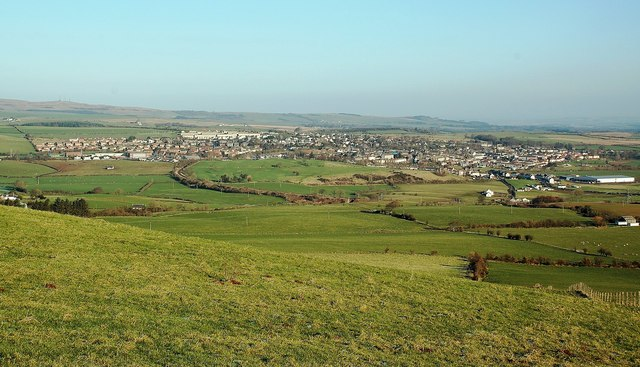 Maybole From Knockbrake Hill