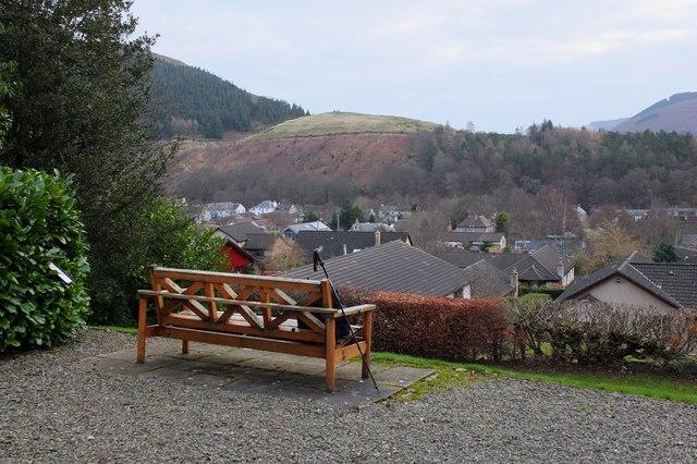 View across Innerleithen from St Ronan's Wells Pavilion