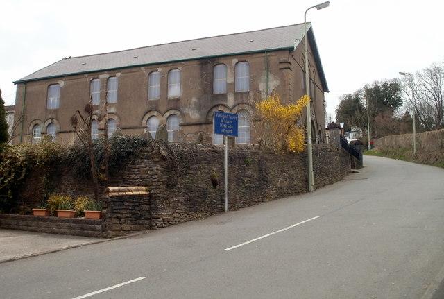 South side of Hephzibah Baptist Church, Bedwas