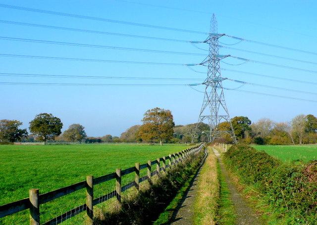 Powerline near Henbury farm
