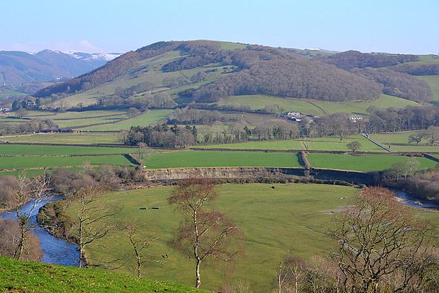 Fields by the Rheidol