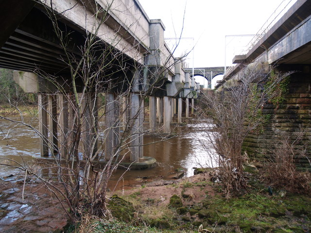 Below the railway bridges at Etterby
