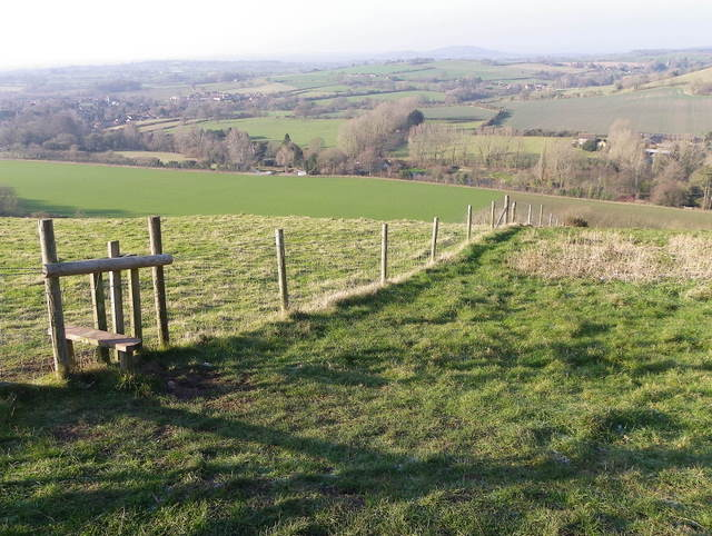 Stile and dog gate, Fontmell Down