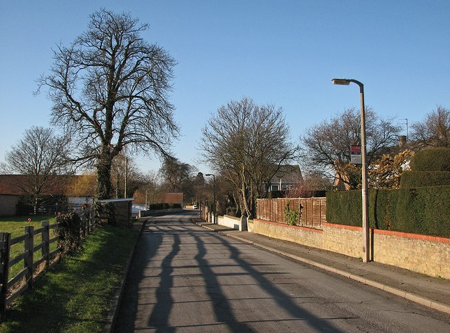 Pampisford: winter sunlight and shadows