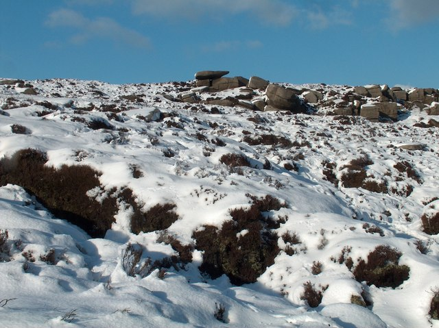 Millstone boulders east of The Horse Stone