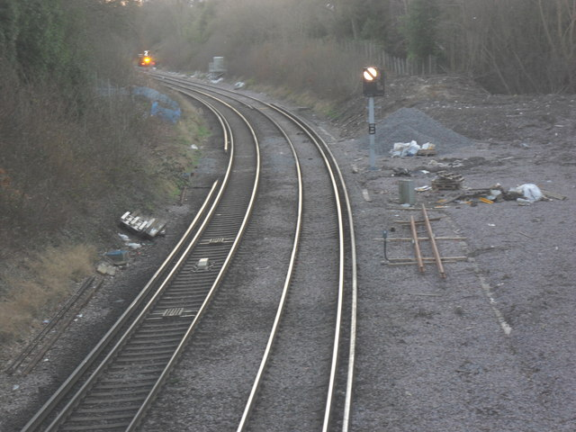 View of Railway to East Grinstead by St. Margaret's Loop