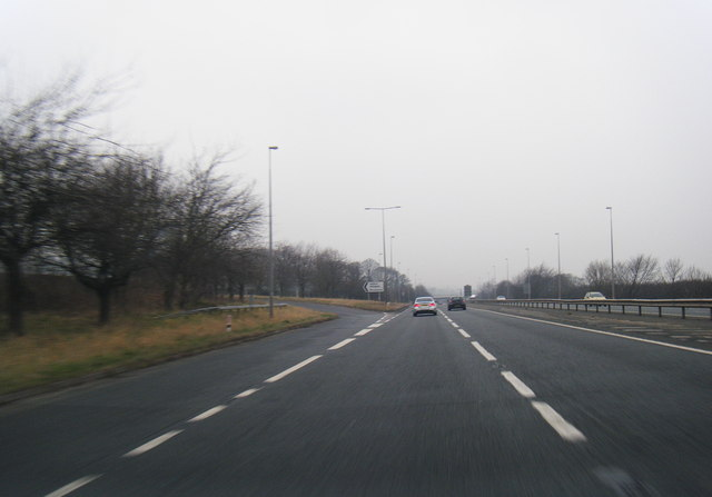A55 westbound at Halkyn exit