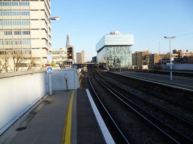Looking down the line from Waterloo East station