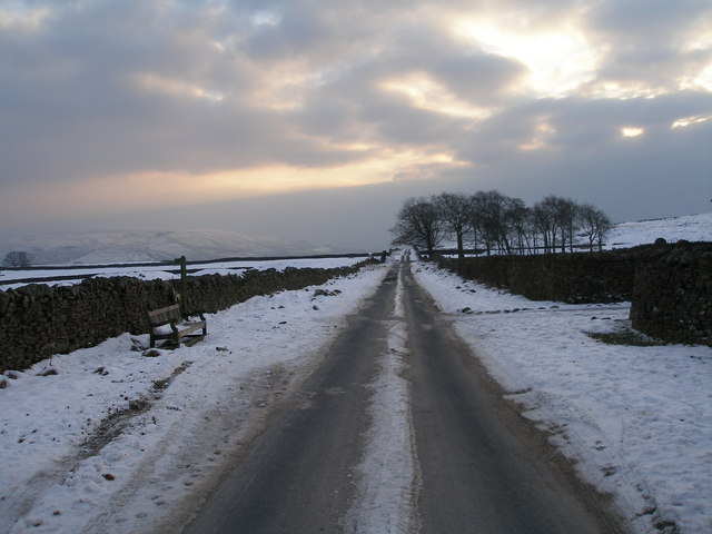 Moor Lane from Yarnbury