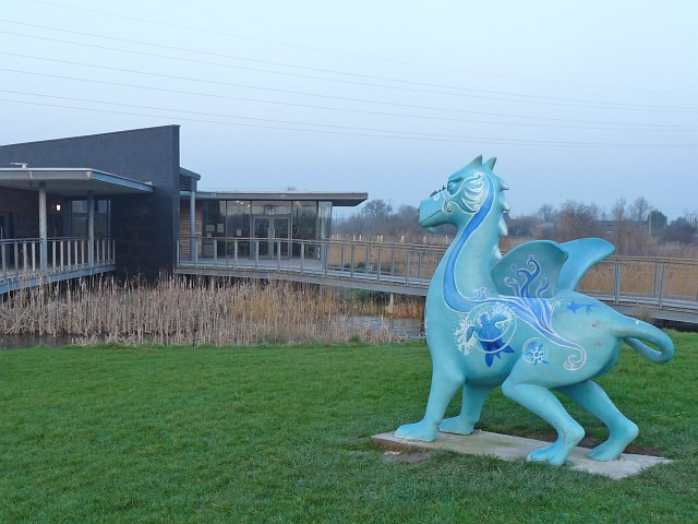 Super Dragon 'Water is Life' at the Visitor Centre at Newport Wetlands