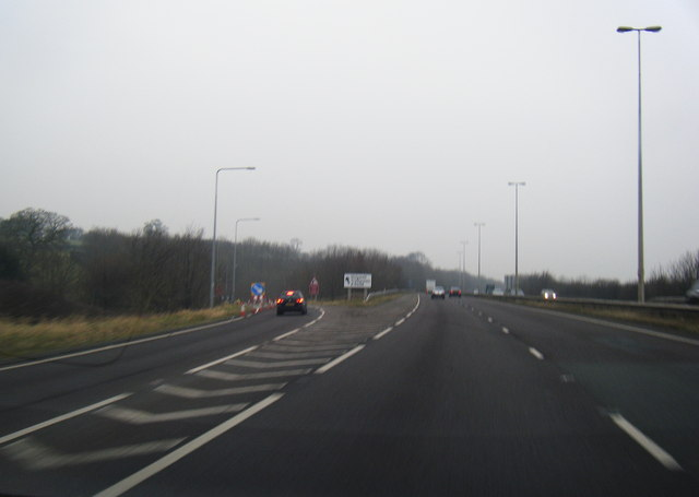 A55 westbound at Holywell exit