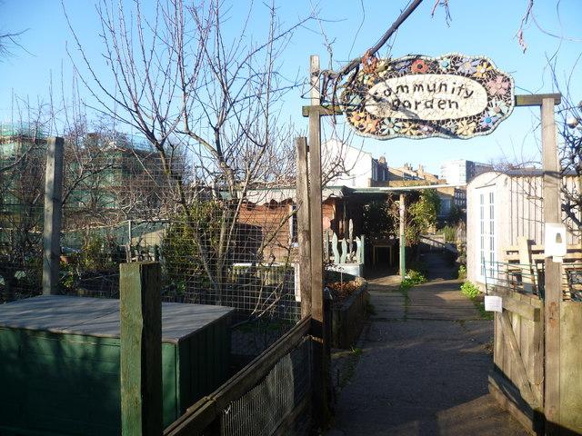 Entrance to the community garden at Vauxhall City Farm