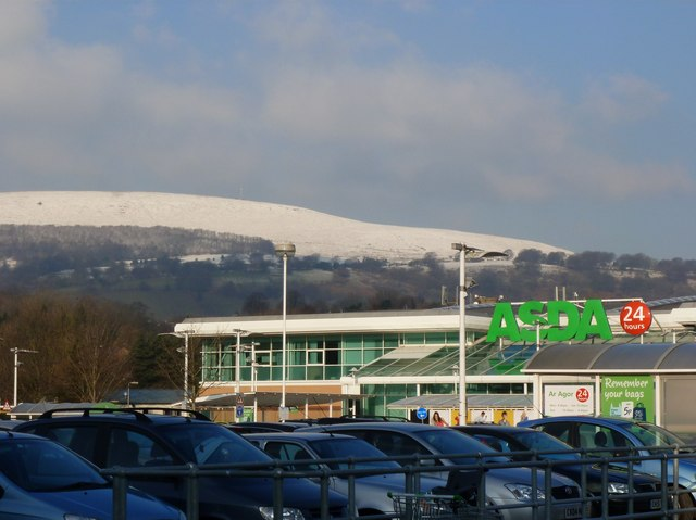 ASDA Cwmbran on a winter's day