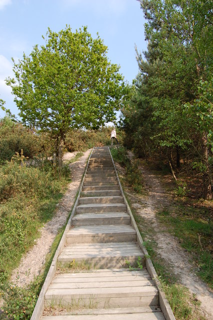 Steps up to Stevens Castle