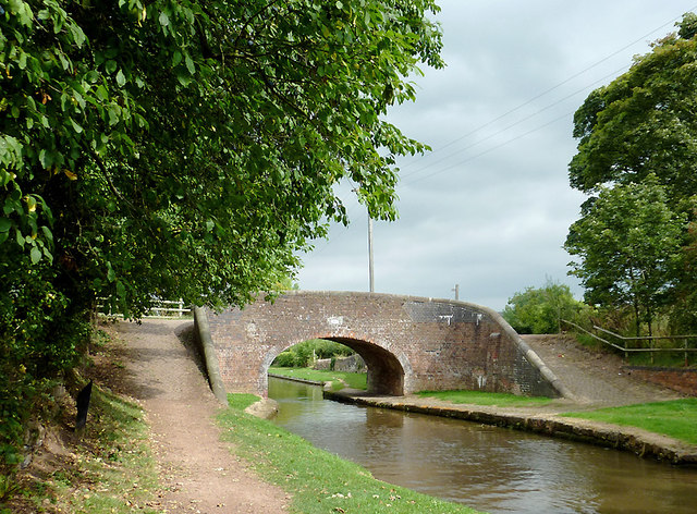 Turnover Bridge near Meaford, Staffordshire