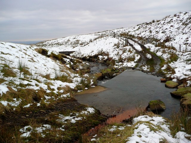 Ford and dam on the Shaggie Burn