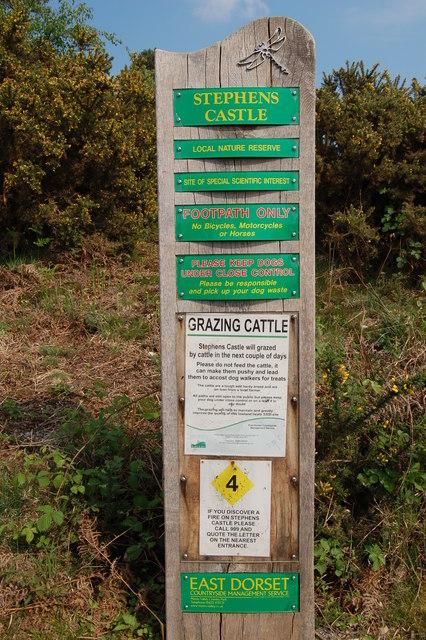 Information board Stevens Castle