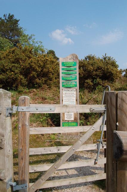 Gate to Stevens Castle
