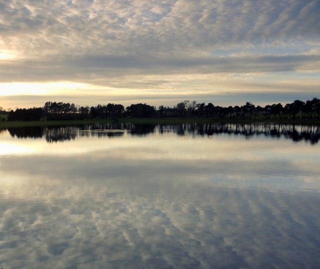 Mackerel Sky over Whittle Dene Reservoir