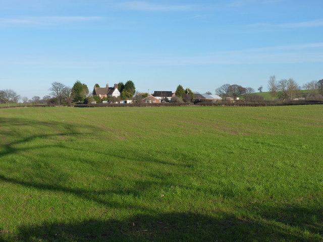 Across the fields towards Lower Lythwood Hall