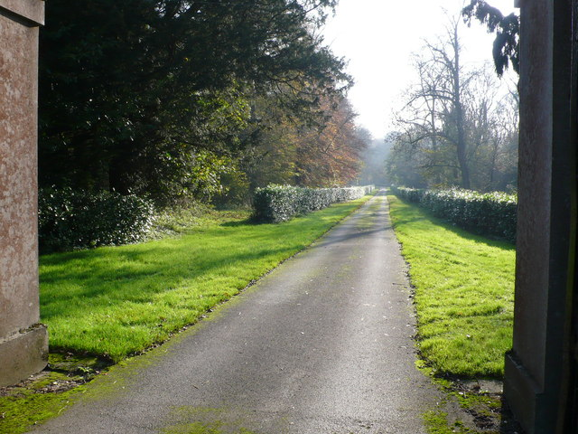 Main drive to Charborough House