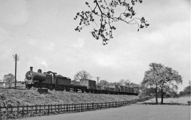 Freight train descending Lickey Bank