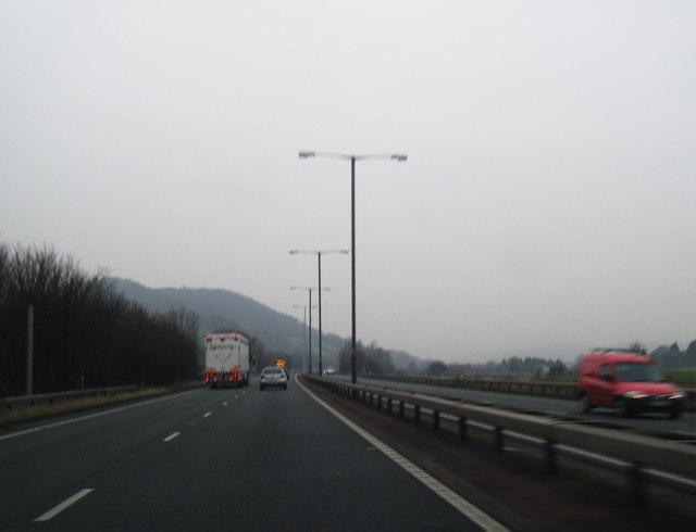 A55 westbound near Mochdre