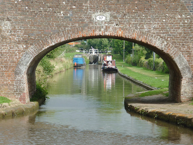 Trent and Mersey Canal at Meaford, Staffordshire