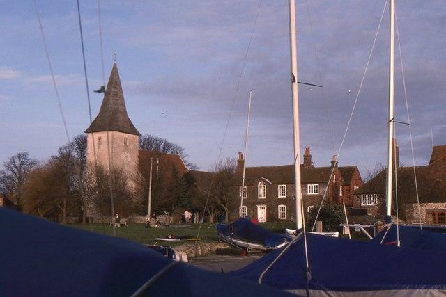 Bosham Church from the quay