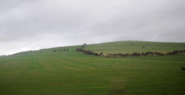 Farmland between West Bay and Burton Bradstock
