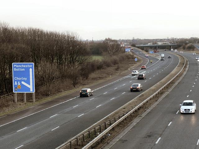 M61 Motorway, near Junction 8